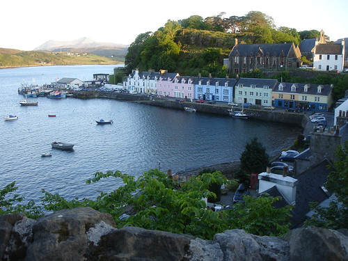 The island harbor of Portree.