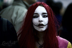 Lady Joker (Scarlet_Fairy) Tags: red portrait white black lady hair eyes purple cartoon manga wig passion joker romics overtheexcellence giusysiesti