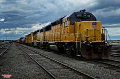 Union Pacific 1212 (MBates Foto) Tags: color unionpacific train outdoors spokane washington inlandwashington pacificnorthwest nikon nikond7000 overcast hdr unitedstates 99212