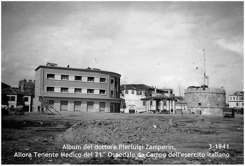 DURAZZO, MARZO 1941. ALBERGO DEI DOGI, NEGLI ANNI '60 = HOTEL VOLLGA, NEGLI ANNI '70- '90 = HOTEL ILIRIA.