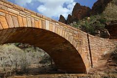 "Stone arch bridge in Zion NP 1 of 3 (IronRodArt - Royce Bair (""Star Shooter"")) Tags: park bridge rock stone design construction highway sandstone arch engineering mount national carmel manmade zion keystone"