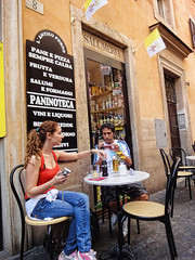 Looking for food in Rome? (williamcho) Tags: travel vacation italy holiday rome photoshop worship johnpaulii religion churches ps placesofworship prayers catholics digitalenhancement topazlabadjust williamcho sonydscwx1 patrickcheah beautificationceremony