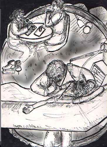 toxin-illustration-bw