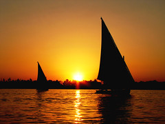 sunset on the Nile at Luxor (Roxy London) Tags: sunset fab boat perfect photographer egypt nile luxor the felucca rivernile