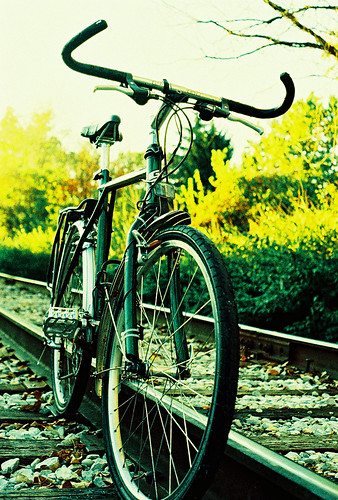 Bike on tracks