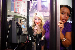 Lollipop - Cardiff, Wales (Maciej Dakowicz) Tags: uk greatbritain party people girl wales night europe phone phonebooth cardiff streetphotography nightlife lollipop stmarystreet fds24h hcsptate