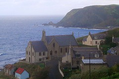 church on a hill - gardenstown - aberdeenshire - scotland (~ paddypix ~) Tags: sea nature buildings scotland village shoreline moodyblues ukandireland thatsbostin scenicsnotjustlandscapes