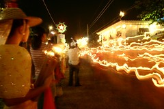 prosesyon (Farl) Tags: street longexposure light heritage valencia colors festival night fire lights dance philippines performance hats cebu lamps fest festivaloflights salakot carcar cebusugbo balaynatisa stacatalinast valenciaosmeña