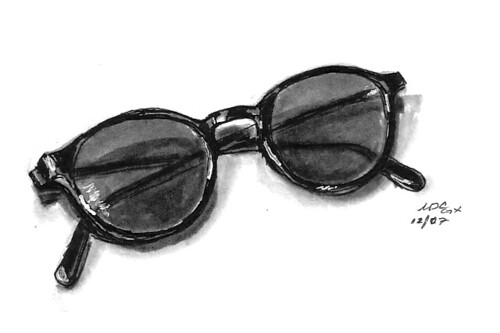 Old Glasses Drawing i Love Having These Prompts to