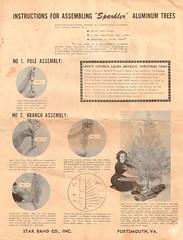 Aluminum Christmas Tree Instructions (Johnny Dollar) Tags: christmas tree aluminum instructions sparkler