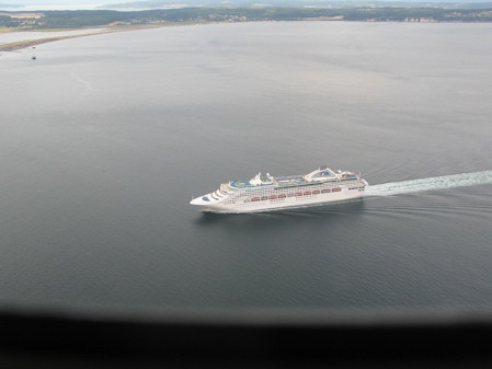 Cruise Ship off Whidbey Island