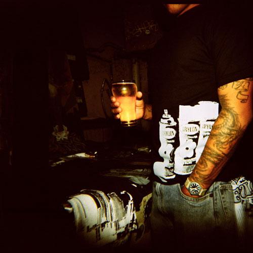 beer tattoos spraypaint