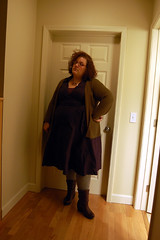 There's a tiny hole in that wall where I'd hung a picture at one point... (52 stations) Tags: selfportrait dress fat navy clothes lanebryant fatshionista fatshion 300lbs threehundredpounds deathfat