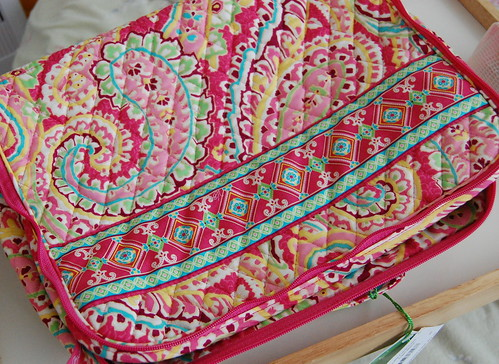 Vera Bradley Little Travel Case in Capri Melon