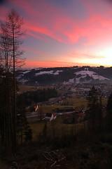 Being Home (blabbr) Tags: church forest schweiz switzerland twilight woods suisse suiza dusk polarizer polarized svizzera appenzell oberegg vorderland camd70s lens18200mm setbackhome filterpolarizer kitionnet