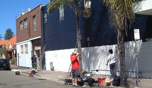 Vorbreitung der Fassade in Sydney
