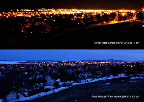 Earth Hour Comparison