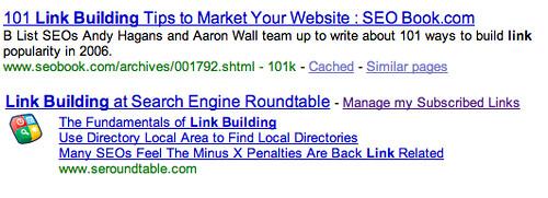 Google Co-Op Subscribed Links