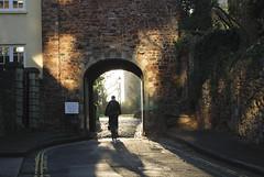 Through the Gate (Daniele Sartori) Tags: uk england bike st bristol nikon gate europa europe arch hill ciclista bici biker arco collina inghilterra portone micheals d80 nikond80