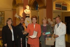 Angie Davidson, Louis Mariette, Lady Anson, Lady Neubert & Dr Hughes