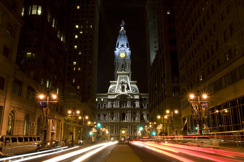 Philly at night - flickr/michaelrighi
