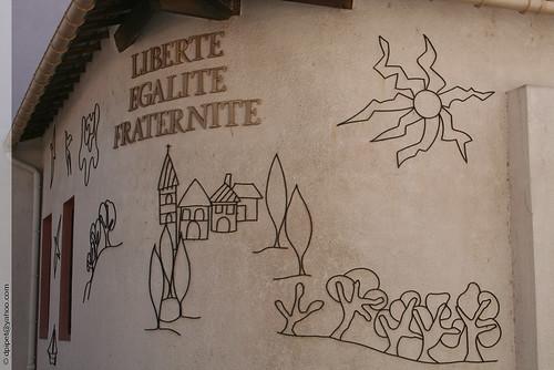 Liberté Egalité Fraternité à Berre l'Étang