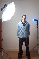 Lighting Setup (Andrew Dyer) Tags: portrait man d50 nikon longhair headshot nikond50 actor ponytail metz andrewsphotos cl3 masuline bluegel mecablitz strobist metz45 ebayradiotrigger sigma500 homemadesnoot opticallyslaved