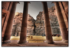 Inside the Treasury................(Petra, Jordan) (MarceloRuiz) Tags: light mountains heritage monument beauty facade wonderful landscape temple mood awesome islam tomb petra siq columns middleeast royal atmosphere unesco worldheritagesite adventure jordan camel mausoleum arab arabia redrock exploration incredible archeology hdr funerary jordania antiquity wonderoftheworld thetreasury nabateans eltesoro photomatix dramaticlight wondersoftheworld sigma1020 roseredcity fineartphotos nikond80 new7wonders new7wondersoftheworld diamondclassphotographer flickrdiamond overtheexcellence theperfectphotographer
