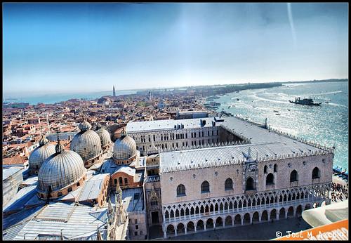 Venecia (Italia). Vista panorámica desde el Campanile. por josemazcona.