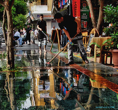 the pavement (MyOakForest) Tags: water turkey wasser colours trkei antalya brgersteig pavemant gehweg diamondclassphotographer flickrdiamond