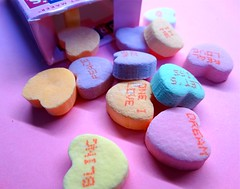 Be Mine (e r j k . a m e r j k a) Tags: valentine candy macro wishes hearts conversation erjkprunczyk romance