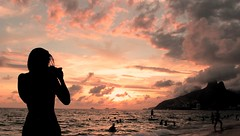 #2 - My pleasure (mathsbez) Tags: riodejaneiro friend photographer photomaker beach ipanema sunset takingpicture picture colors sky sea ocean clouds pleasure beauty lull