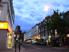 London Street, Paddington, at Twilight