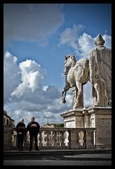 Capitolium (Diaaavelo) Tags: city sky people italy sculpture rome roma art architecture pessoas italia michelangelo gens campidoglio spqr capitolium cieloromano