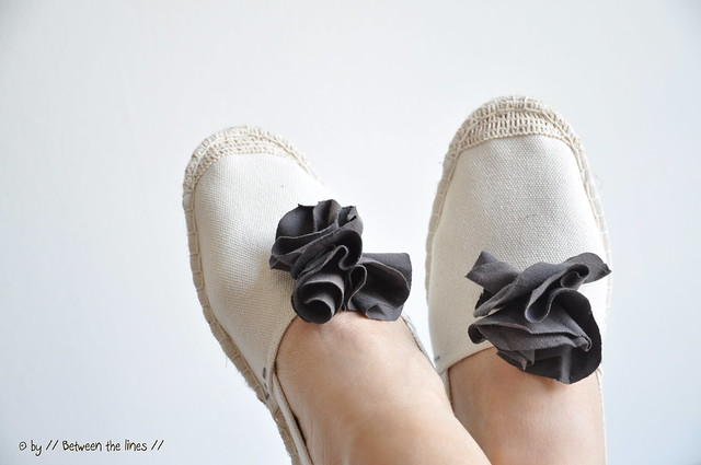 Creative with espadrilles :: a DIY