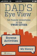 Dad's Eye View iPhone app Home Screen