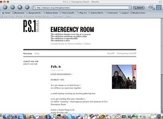 Emergency Room  : MOMA / PS1 daily web channel / web TV film and blog (Thierry Geoffroy / Colonel) Tags: blog momaps1 ultracontemporary art ultrafast exhibition aestheticofemergency urgency emergency kunst museum urgence alert alarm