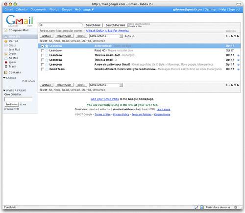 Gmail com uma pitada de Mac!