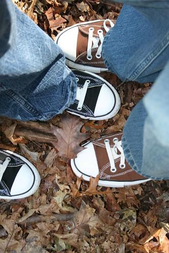 Chucks in Central Park.