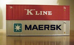 """K"" Line and  Maersk Shipping Containers (Stuart Axe) Tags: macro marine box line container evergreen cast maritime po sealand containership hyundai freight boxs yangming reefer msc hanjin shippingcontainer kline freighttrain hapaglloyd cosco maersk intermodal doublestack nedlloyd chinashipping uniglory bigmetalbox ponedlloyd shipshipping containershipdoublestackdouble stackboatmaerskk unlimitedphotos columbusline"