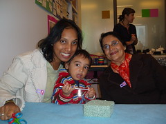 Ronak with his mommy and grandma