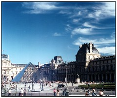 Louvre (toltequita) Tags: street blue sky urban cloud paris france art azul museum architecture calle arquitectura triangle europe louvre cielo panoramica urbano museo nube thebest triangulo anawesomeshot panview ysplix colorartaward