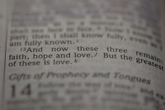 1 Corinthians 13:13 (MrTopher) Tags: b macro love d50 hope quote faith first saying bible roll greatest script passage cor scripture verse corinthians 105mm 1313 versage broll nikkor105vr