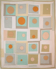 sun and moon (square one studio) Tags: sun moon modern quilt handmade sewing quilting quilts patchwork groovy artquilt babyquilt sunandmoon logcabinblock cribquilt modernquilt quiltedthrow circlequilt