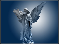 Angel Azul (Juan Antonio Garza Lozano) Tags: grave graveyard statue stone angel ange angels alas panteon engel anjo cementery smrgsbord wigns aplusphoto excellentphotographerawards