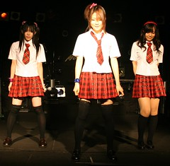 OK start the music (shiroibasketshoes hopper) Tags: costumes girls japan asian fun song group funky pop clothes idol singers groovy skirts