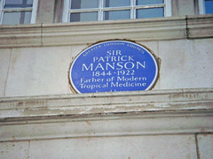 Photo of Patrick Manson blue plaque