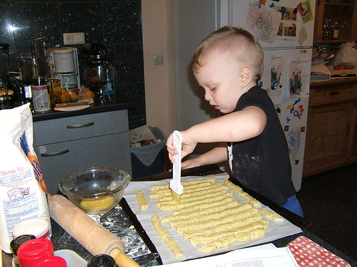 Max making breadsticks