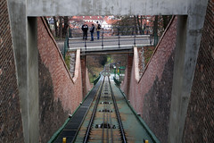 Tracks of the funicular