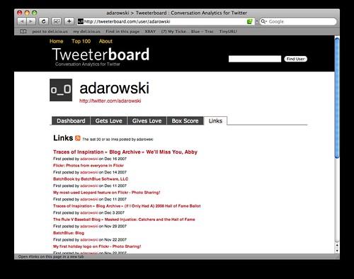 Tweeterboard: Links